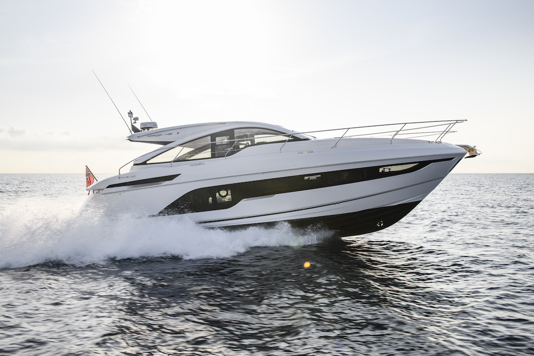 fairline targa 43 open  2019 u2013   ensiesittely
